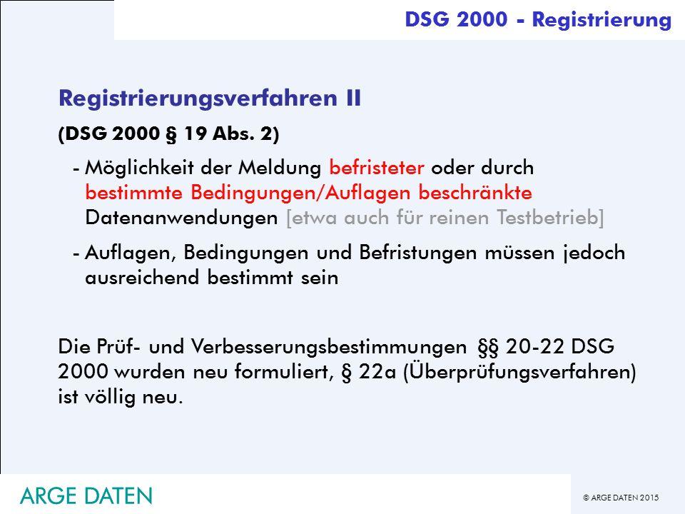 Registrierungsverfahren II