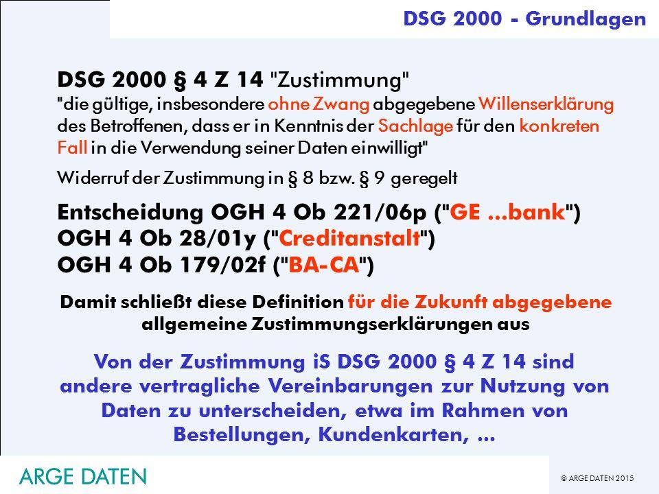 Entscheidung OGH 4 Ob 221/06p ( GE ...bank )