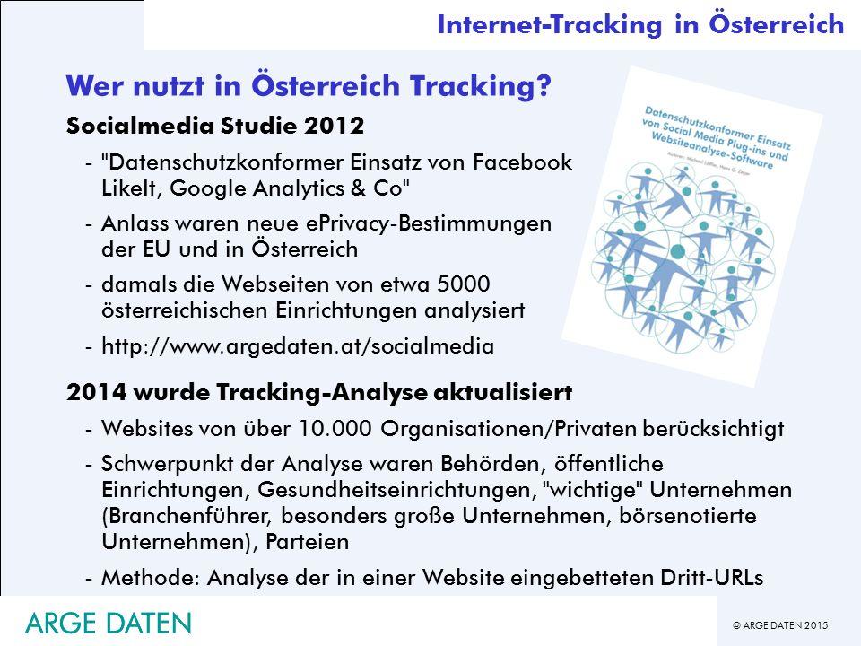 Wer nutzt in Österreich Tracking