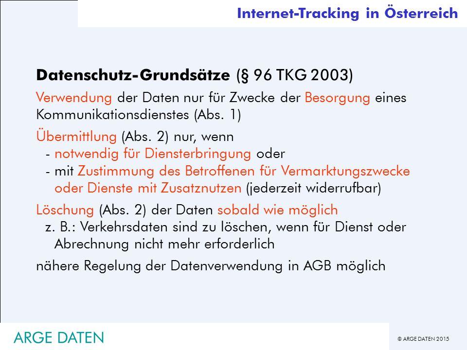 Datenschutz-Grundsätze (§ 96 TKG 2003)