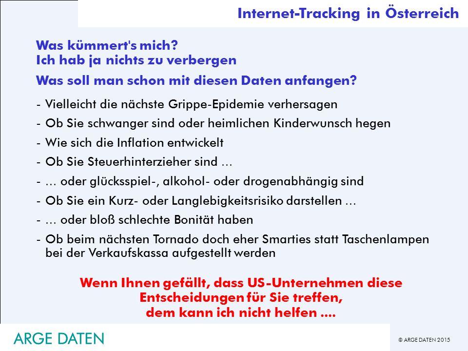 ARGE DATEN ARGE DATEN Internet-Tracking in Österreich