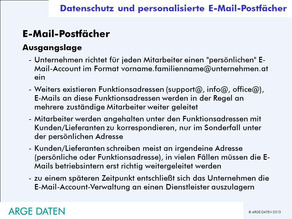 E-Mail-Postfächer ARGE DATEN ARGE DATEN