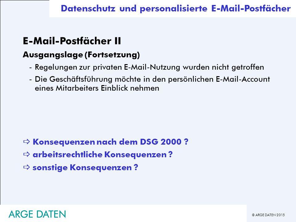 E-Mail-Postfächer II ARGE DATEN ARGE DATEN