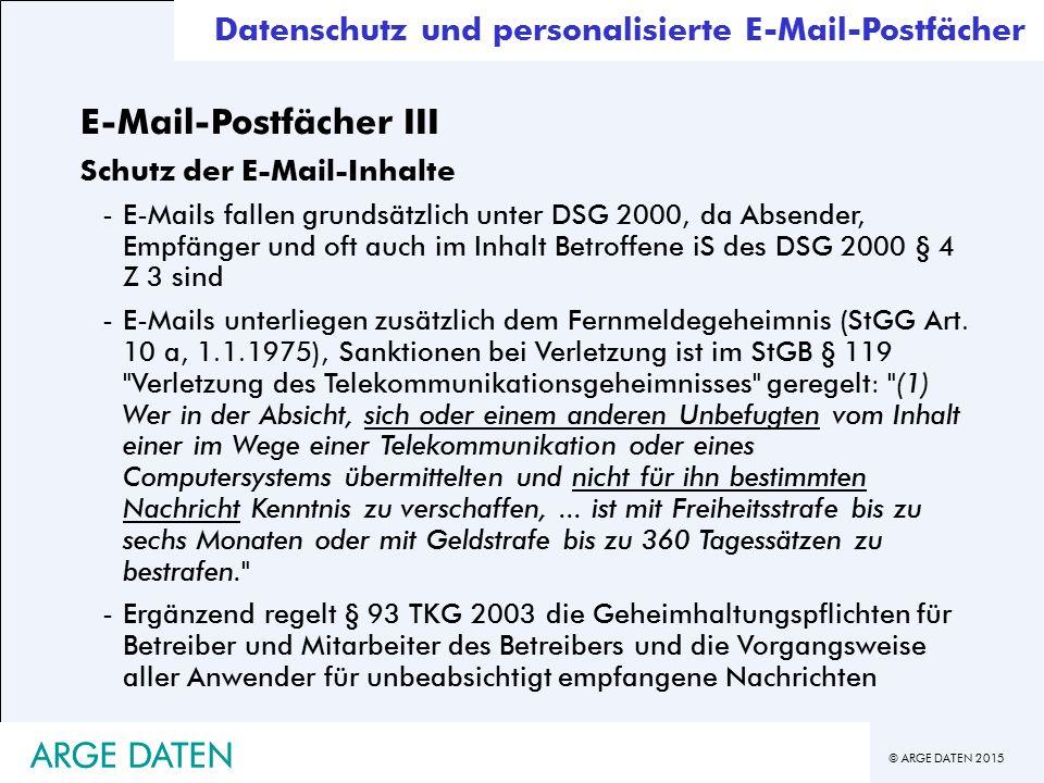 E-Mail-Postfächer III