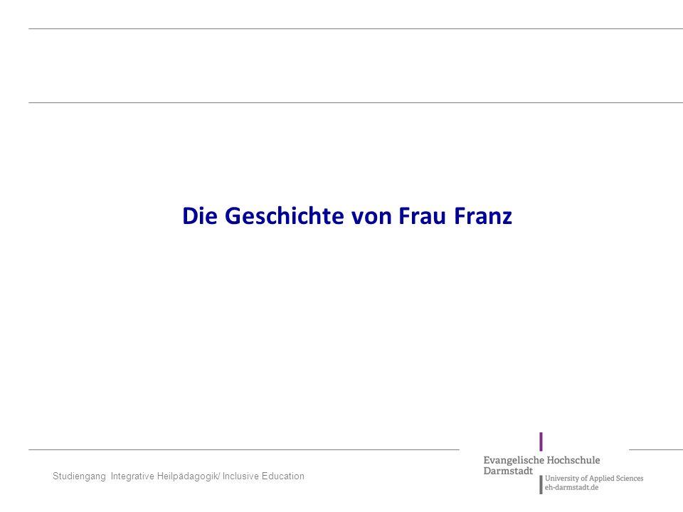 Die Geschichte von Frau Franz