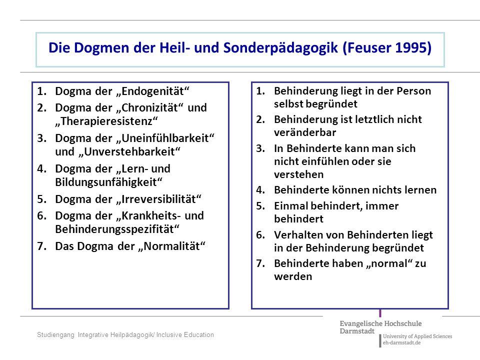 Die Dogmen der Heil- und Sonderpädagogik (Feuser 1995)