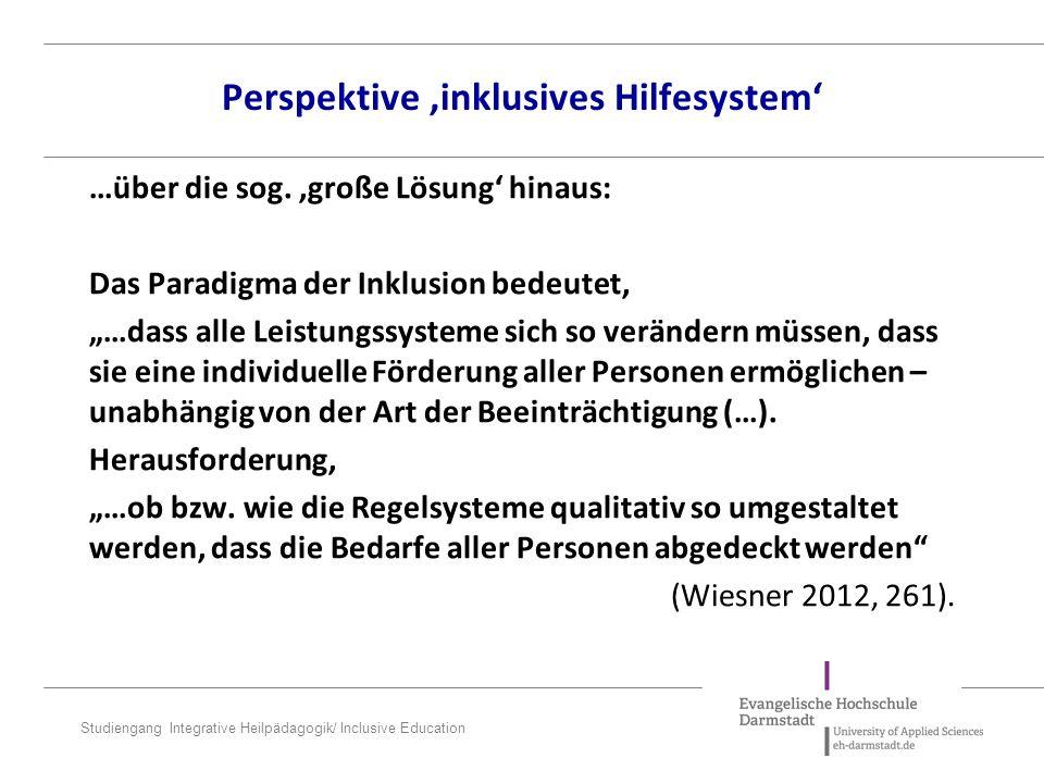 Perspektive 'inklusives Hilfesystem'