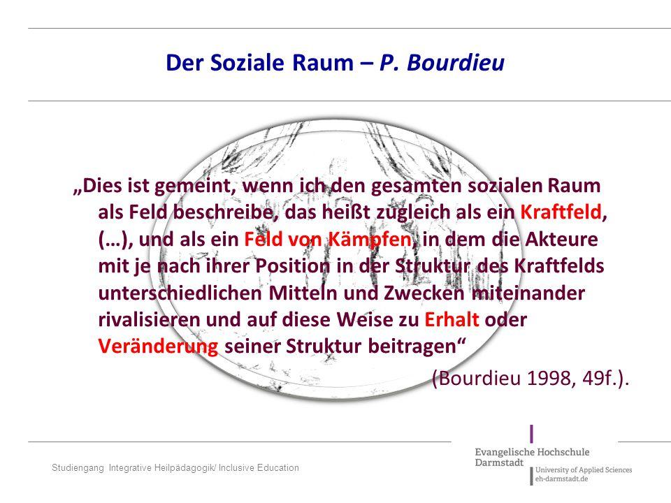 Der Soziale Raum – P. Bourdieu