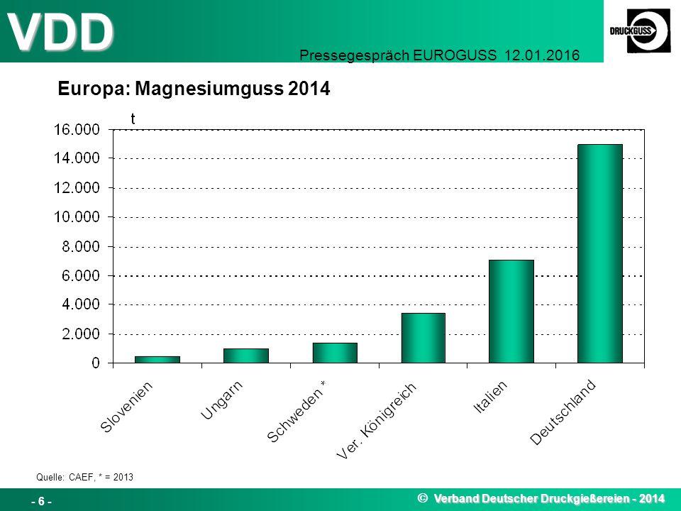 Europa: Magnesiumguss 2014