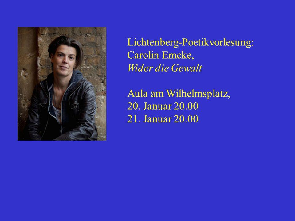 Lichtenberg-Poetikvorlesung: