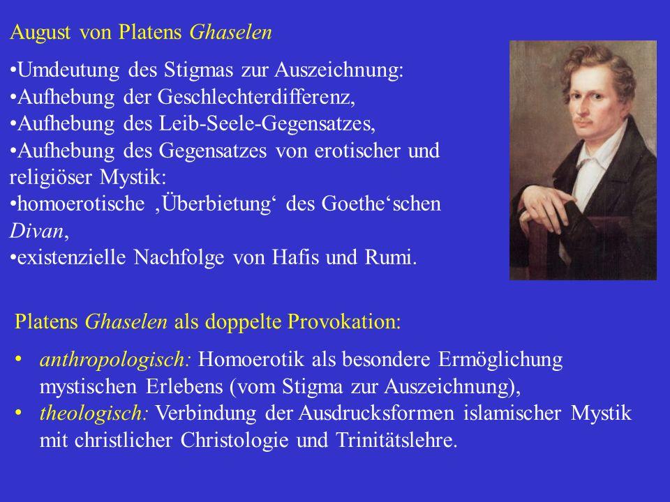 August von Platens Ghaselen