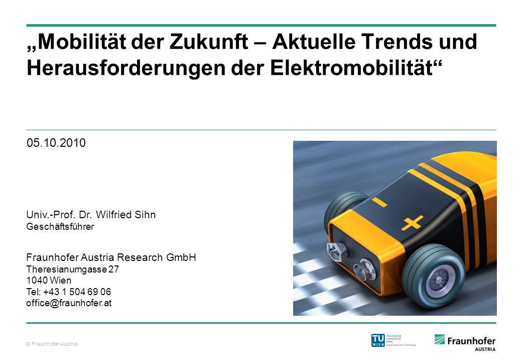 """""""Mobilität der Zukunft – Aktuelle Trends und Herausforderungen der Elektromobilität"""