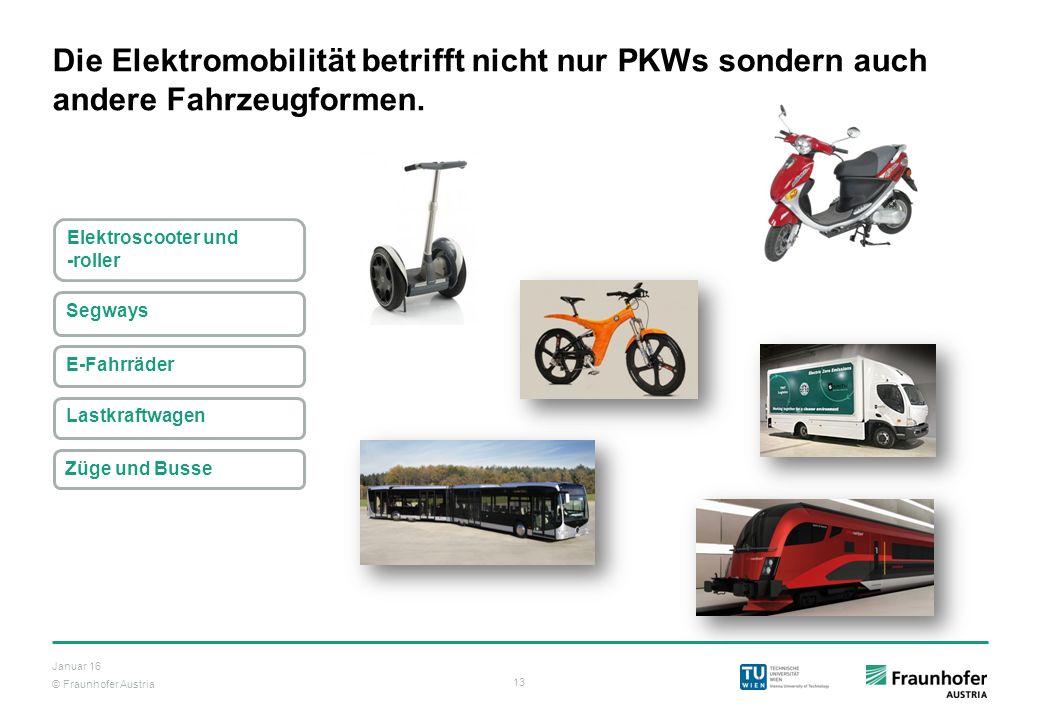 Die Elektromobilität betrifft nicht nur PKWs sondern auch andere Fahrzeugformen.