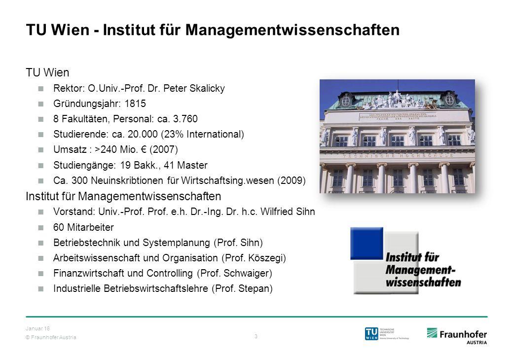 TU Wien - Institut für Managementwissenschaften