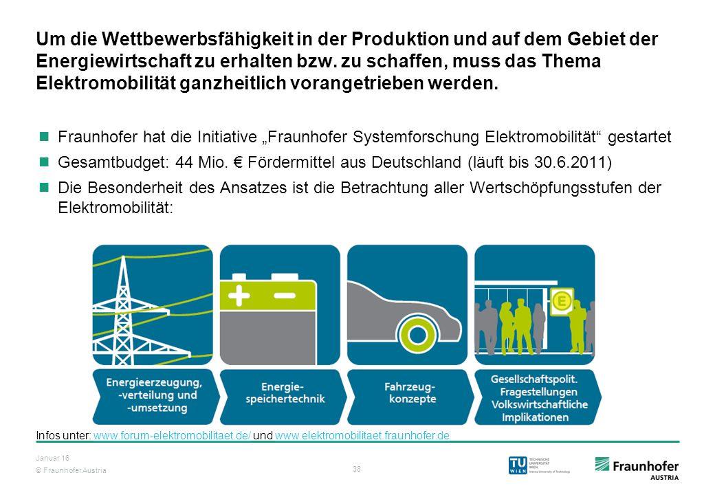 Um die Wettbewerbsfähigkeit in der Produktion und auf dem Gebiet der Energiewirtschaft zu erhalten bzw. zu schaffen, muss das Thema Elektromobilität ganzheitlich vorangetrieben werden.