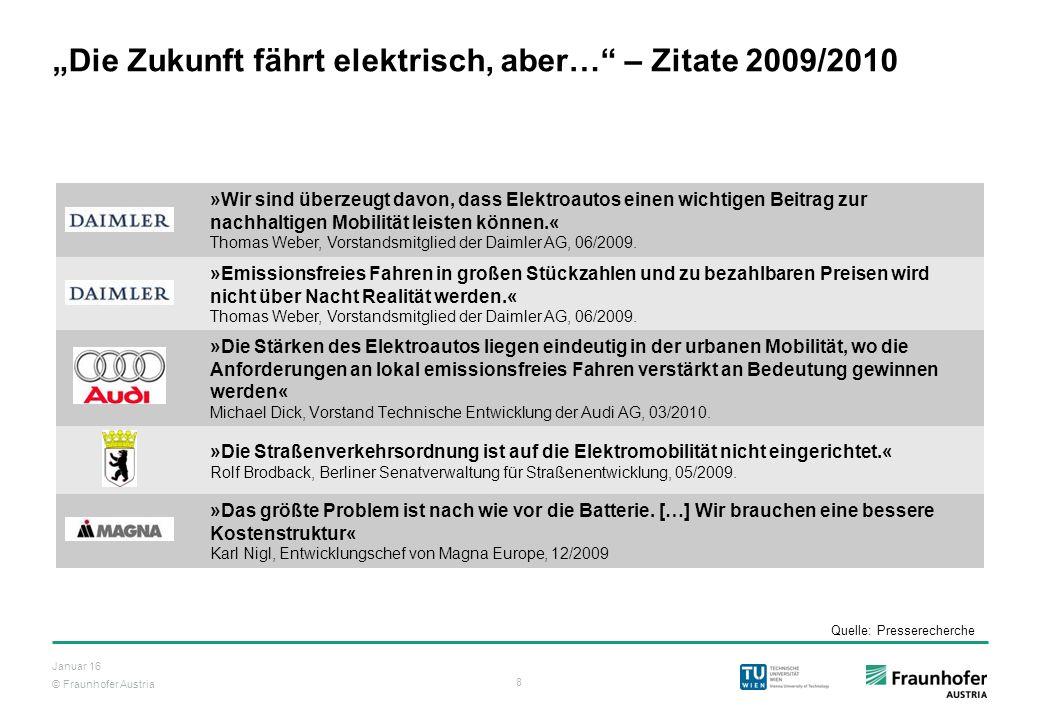 """""""Die Zukunft fährt elektrisch, aber… – Zitate 2009/2010"""