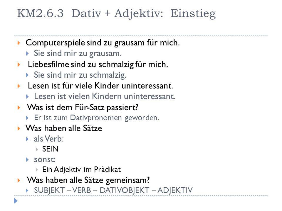 KM2.6.3 Dativ + Adjektiv: Einstieg