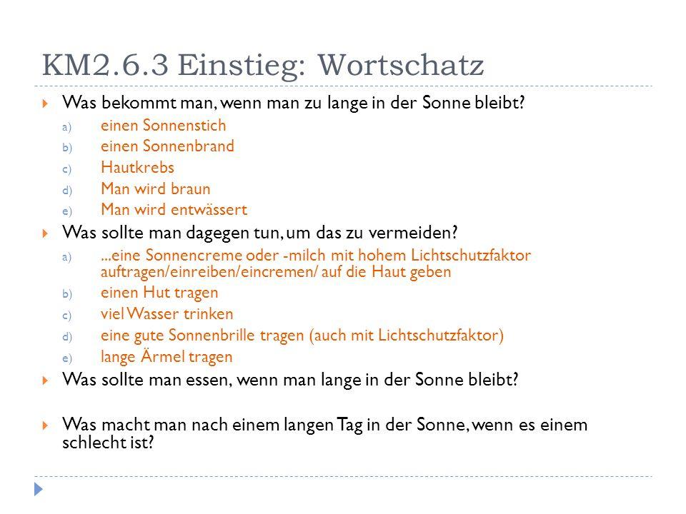 KM2.6.3 Einstieg: Wortschatz