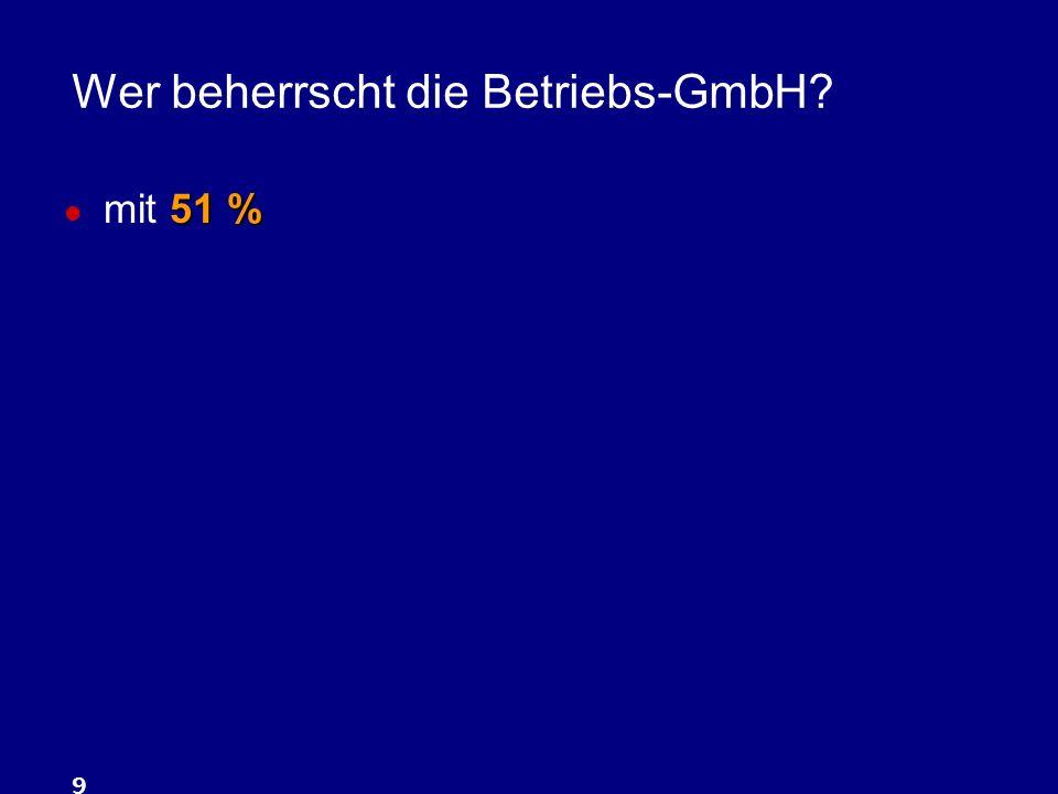 Wer beherrscht die Betriebs-GmbH