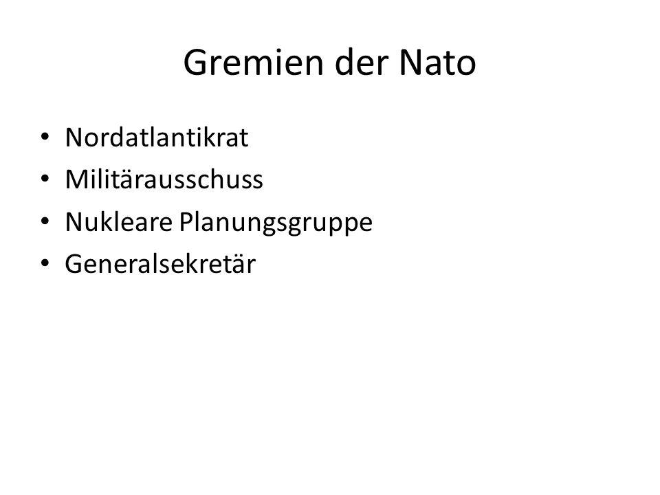Gremien der Nato Nordatlantikrat Militärausschuss
