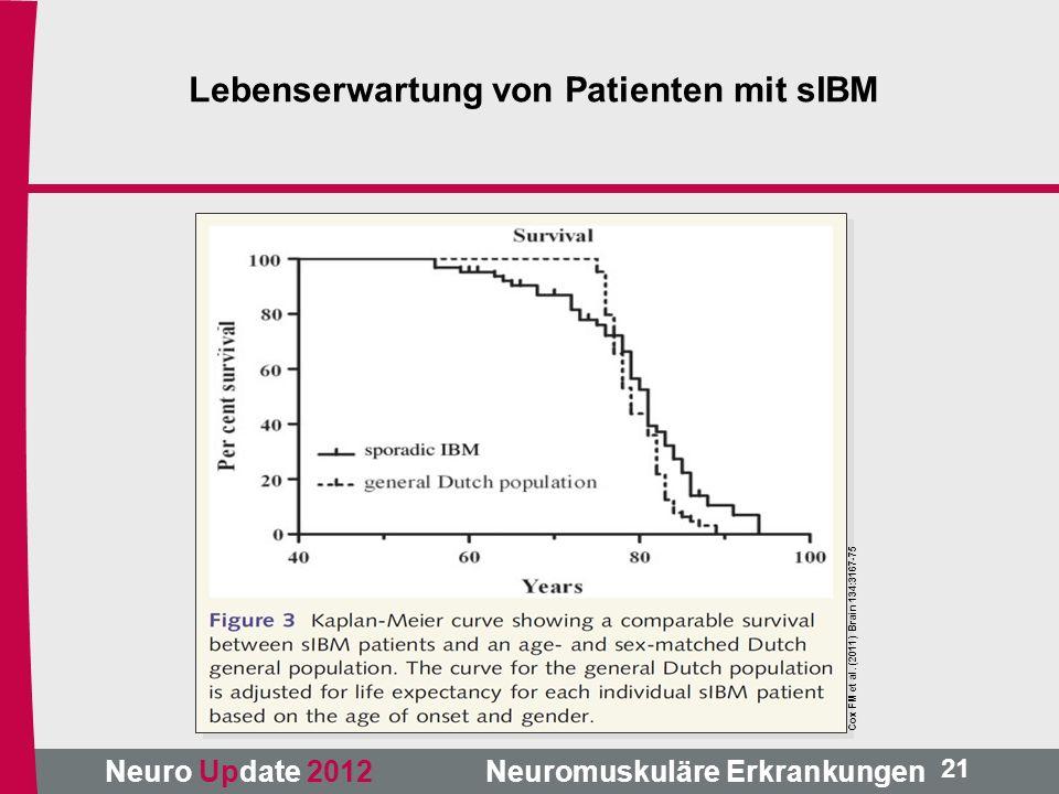 Lebenserwartung von Patienten mit sIBM
