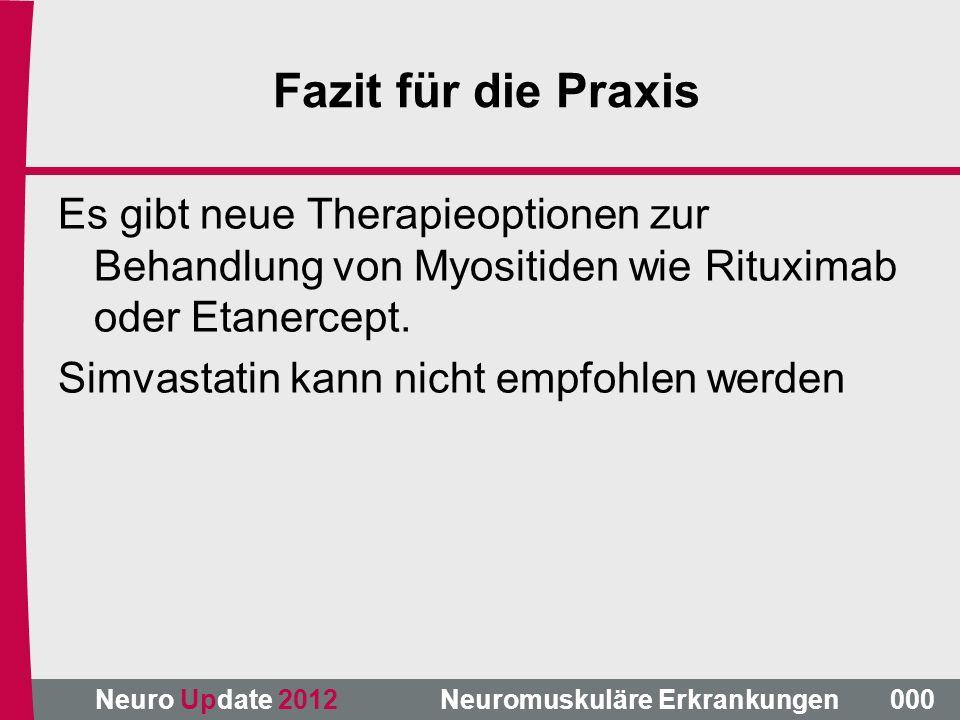 Fazit für die Praxis Es gibt neue Therapieoptionen zur Behandlung von Myositiden wie Rituximab oder Etanercept.