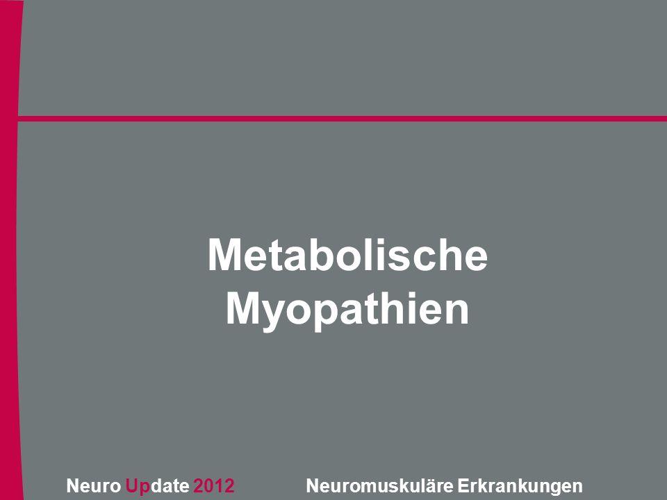 Metabolische Myopathien