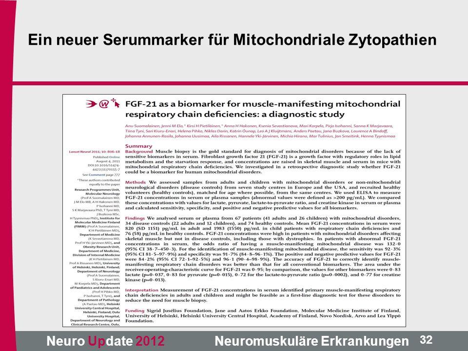 Ein neuer Serummarker für Mitochondriale Zytopathien