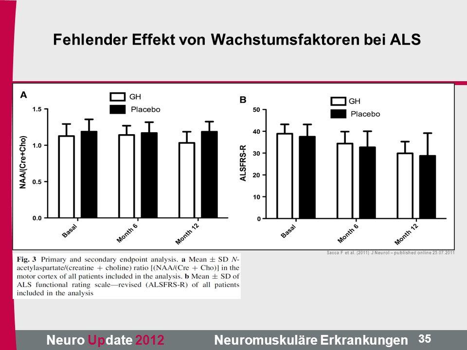 Fehlender Effekt von Wachstumsfaktoren bei ALS
