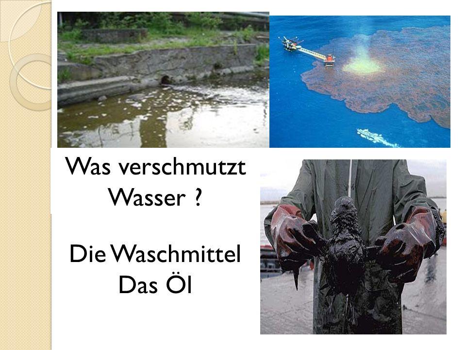 Was verschmutzt Wasser
