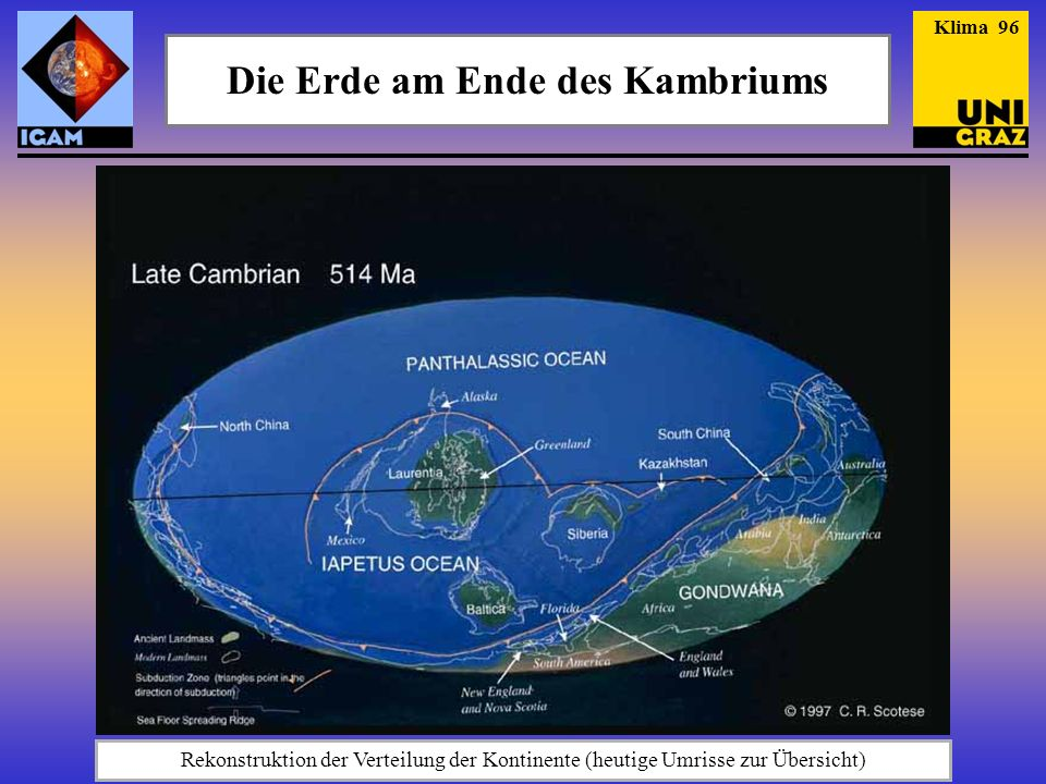 Die Erde am Ende des Kambriums