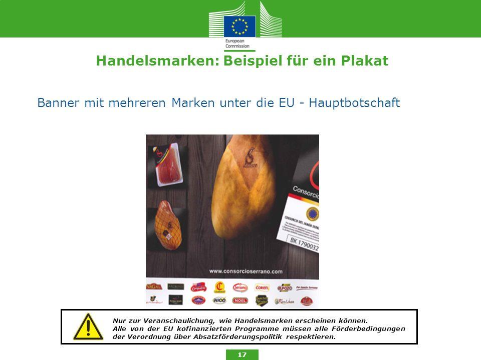 Handelsmarken: Beispiel für ein Plakat