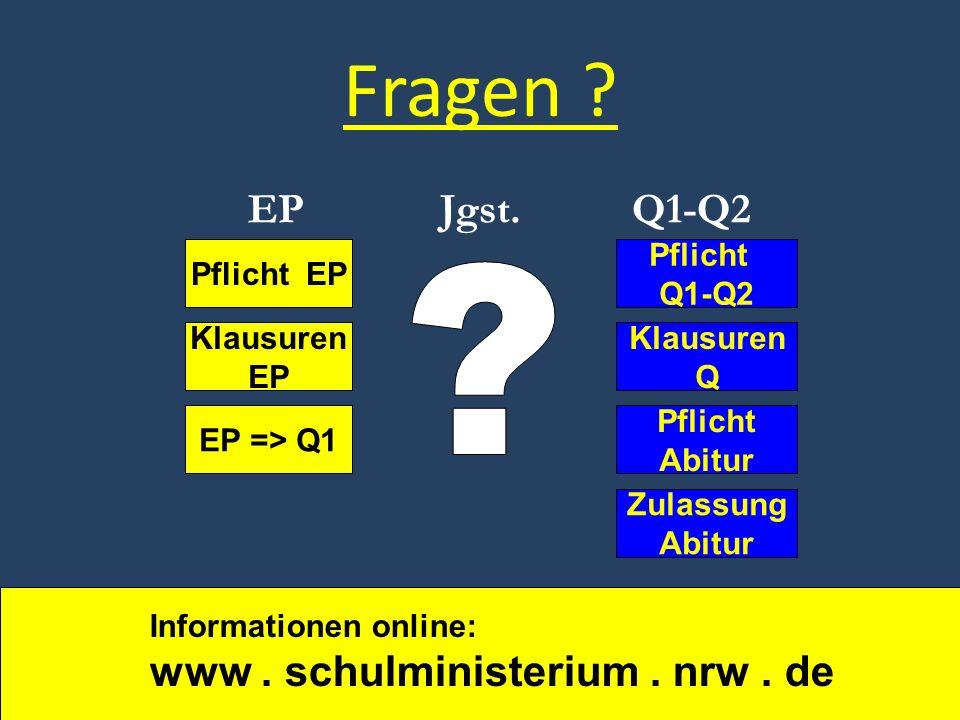 Fragen EP Jgst. Q1-Q2 Pflicht Q1-Q2 Pflicht EP Klausuren Q