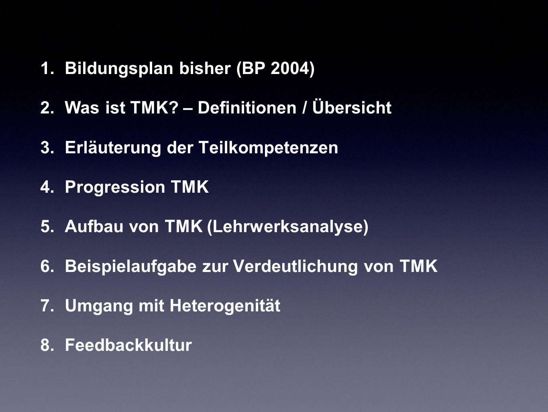 Bildungsplan bisher (BP 2004)