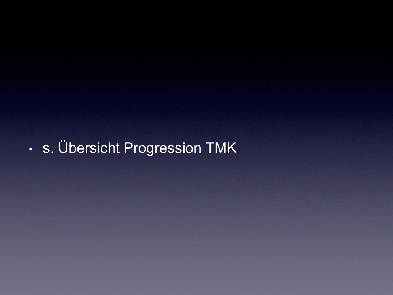s. Übersicht Progression TMK