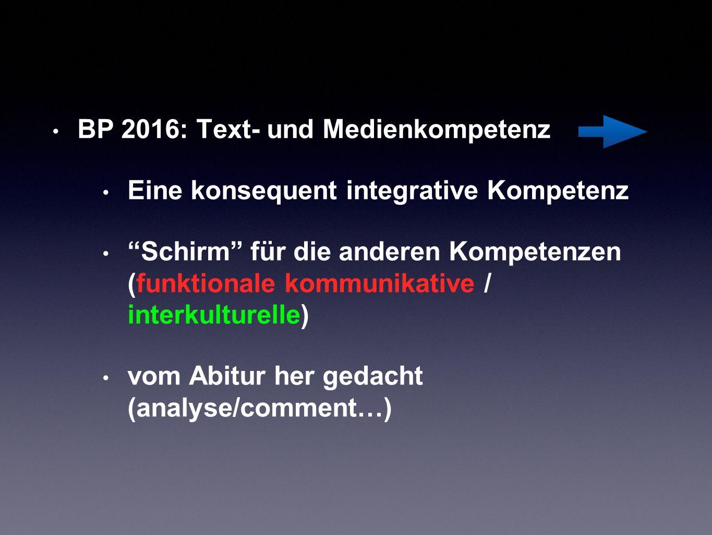 BP 2016: Text- und Medienkompetenz