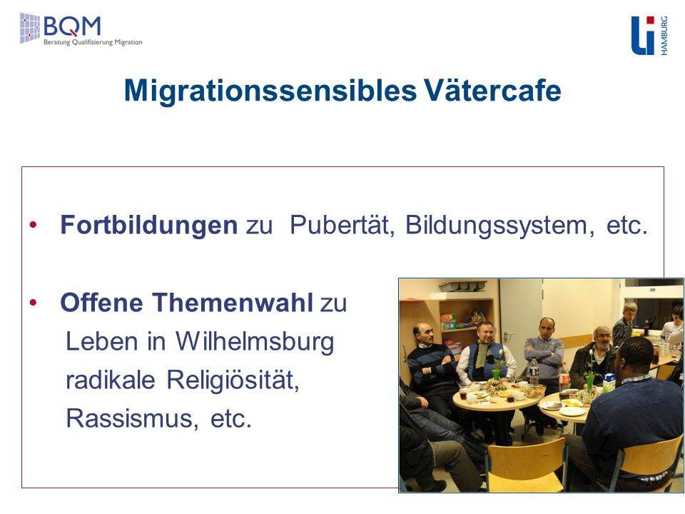 Migrationssensibles Vätercafe