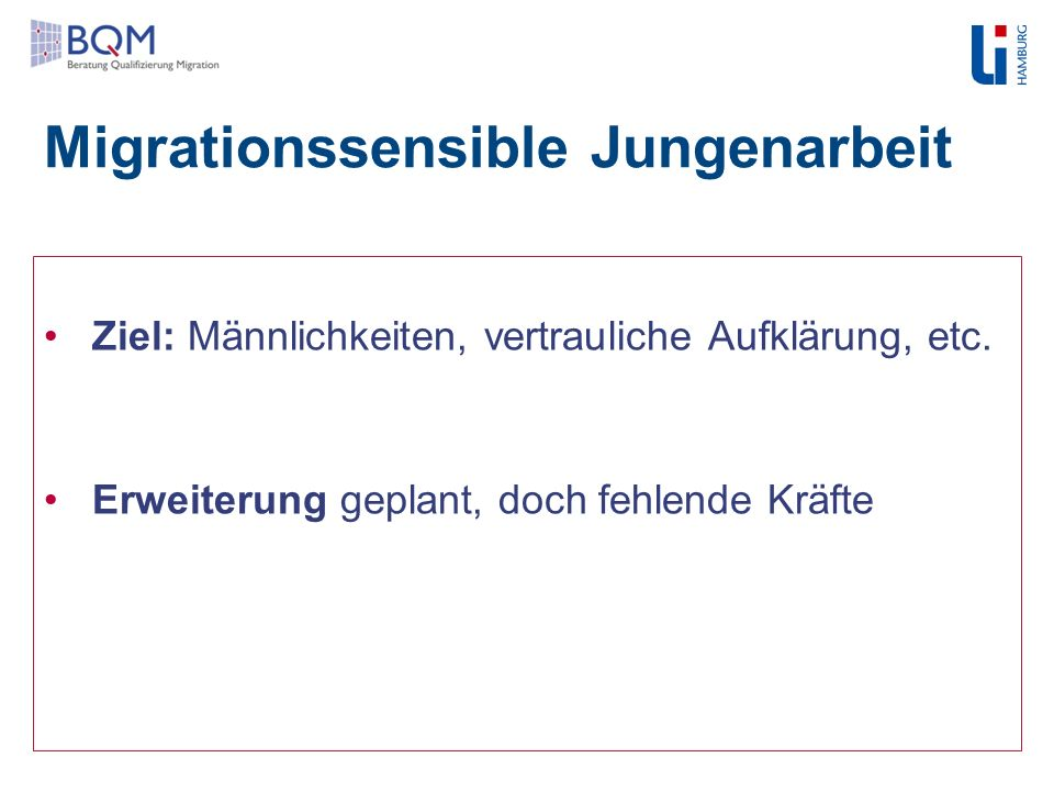 Migrationssensible Jungenarbeit