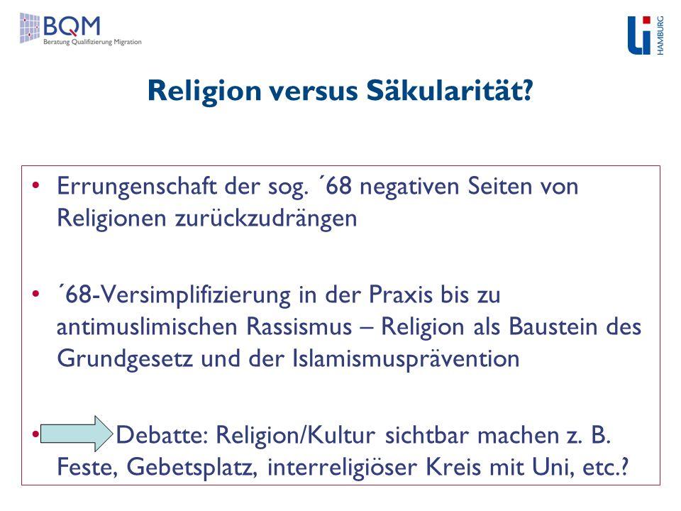 Religion versus Säkularität