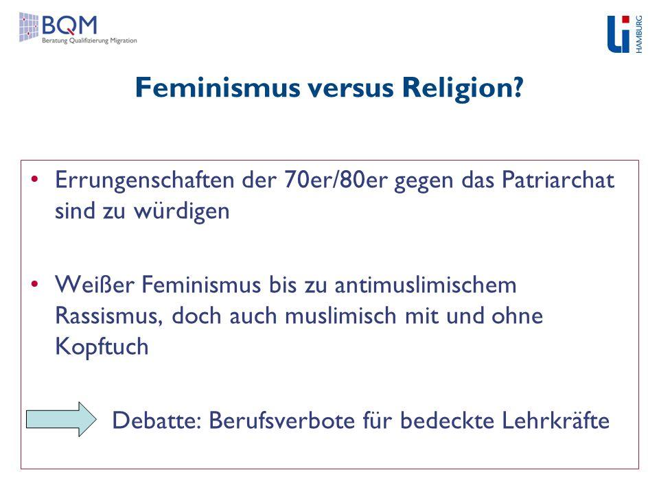Feminismus versus Religion