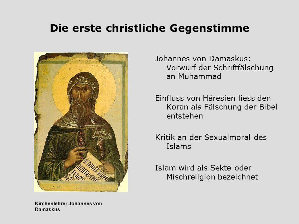 Die erste christliche Gegenstimme