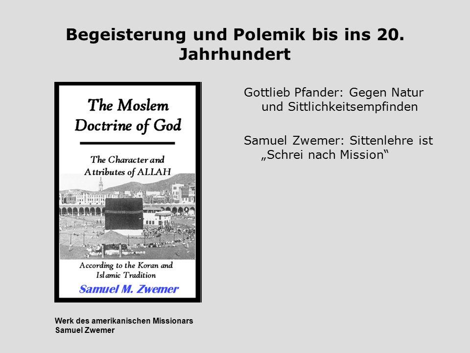 Begeisterung und Polemik bis ins 20. Jahrhundert