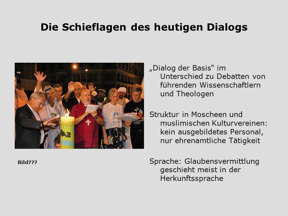 Die Schieflagen des heutigen Dialogs