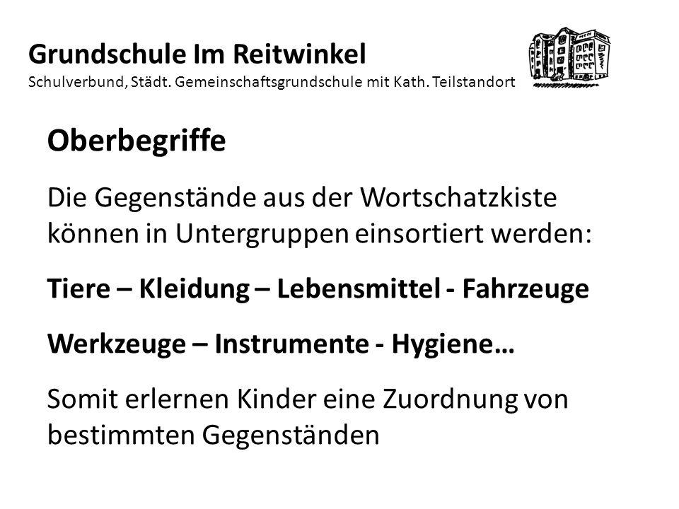 1717 Grundschule Im Reitwinkel Schulverbund, Städt. Gemeinschaftsgrundschule mit Kath. Teilstandort.