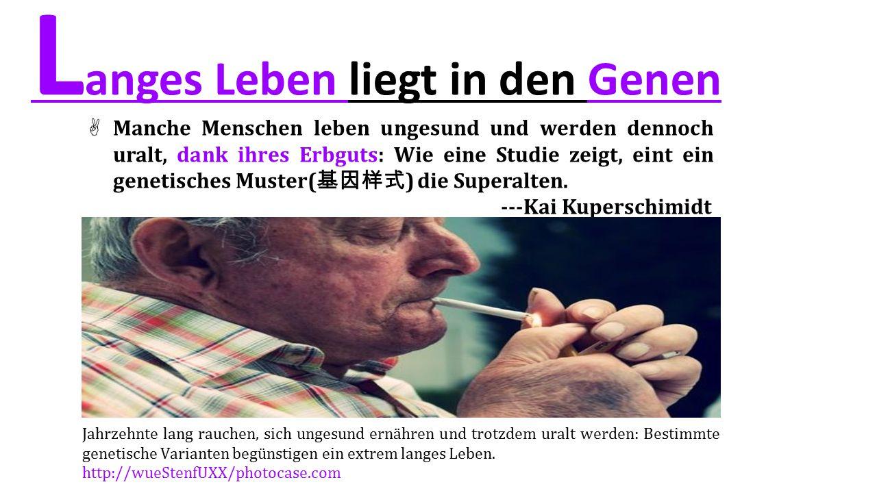 Langes Leben liegt in den Genen