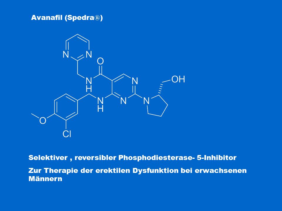 Selektiver , reversibler Phosphodiesterase- 5-Inhibitor