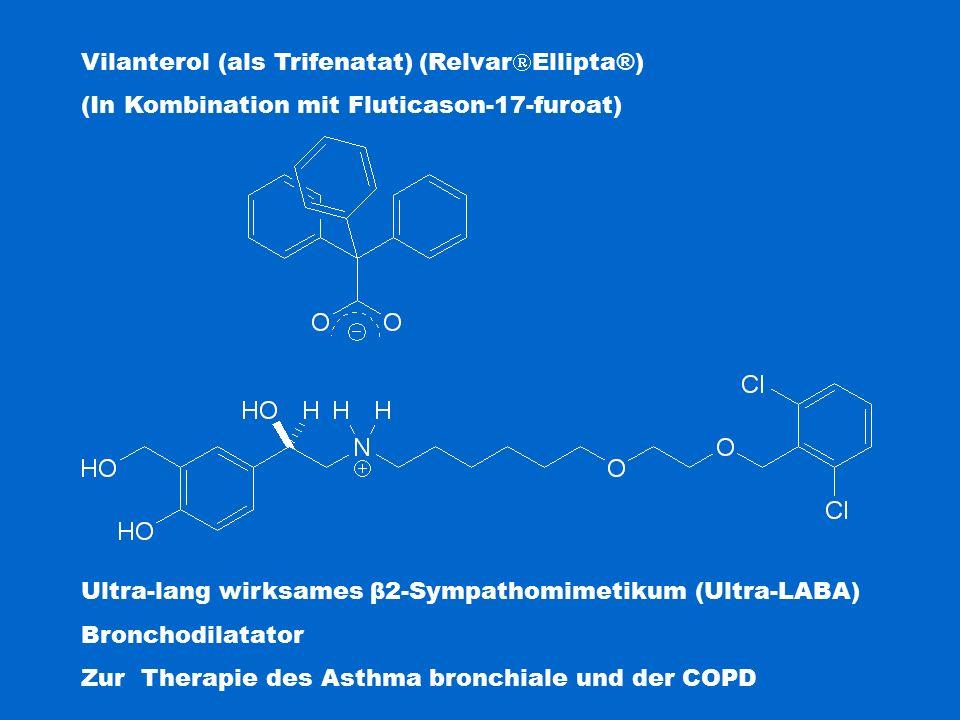 Vilanterol (als Trifenatat) (RelvarEllipta®)