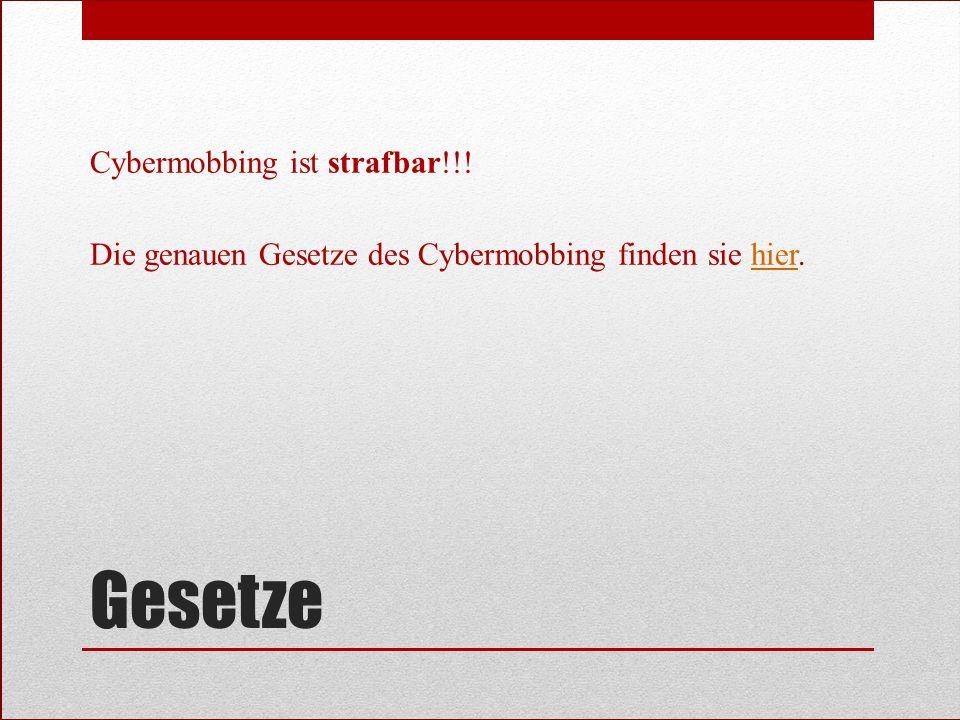 Cybermobbing ist strafbar