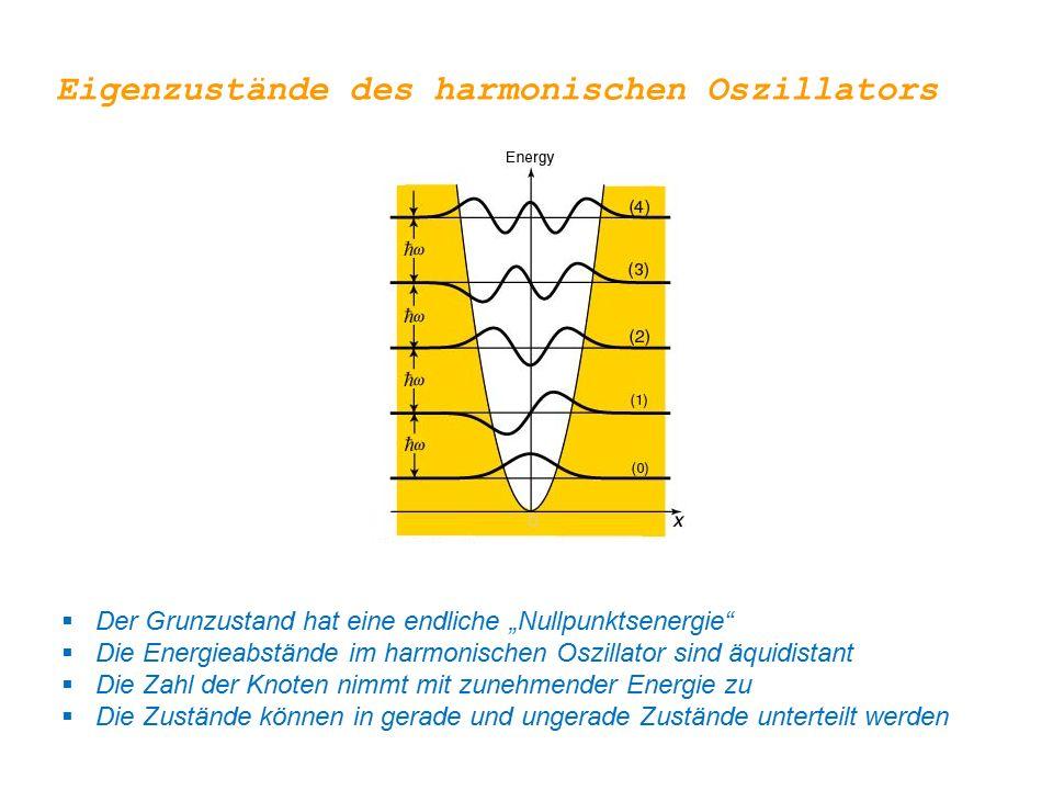 Eigenzustände des harmonischen Oszillators