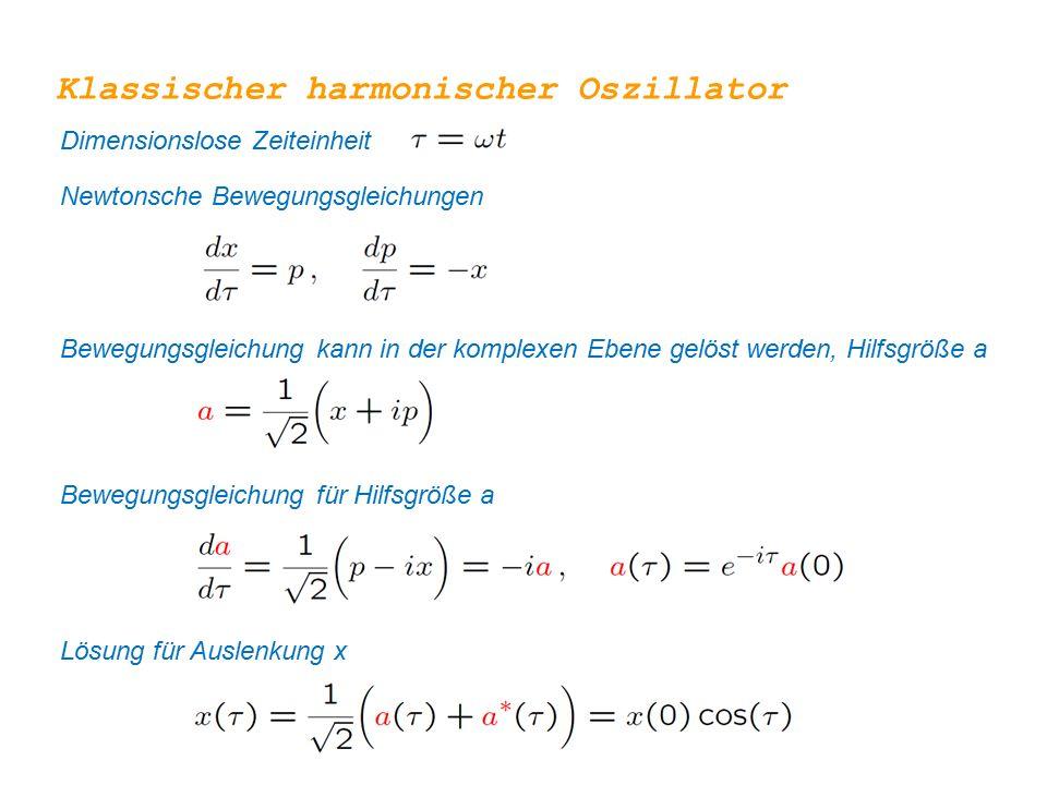 Klassischer harmonischer Oszillator